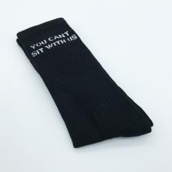 BLACK CANT SIT WITH US SOCKS