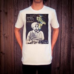 ALBERT EINSTEIN WHITE TEE