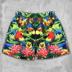 TROPICAL EMBROIDERED SWIM SHORTS