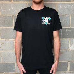 BLACK QUACK FRONT AND BACK TEE