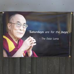 SATURDAYS ARE FOR THE BOYS WALL HANGING 1200 X 800MM