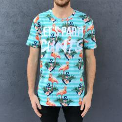FULL PRINT FLAMINGO PARTY TEE