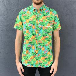 LETS PARTY PINEAPPLES BUTTON UP SHIRT