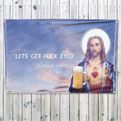 DRUNK CHRIST WALL HANGING 1200 X 800MM