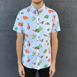 LAND BEFORE TIME BUTTON UP SHIRT