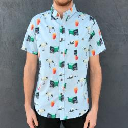 BIN CHICKEN BUTTON UP PARTY SHIRT