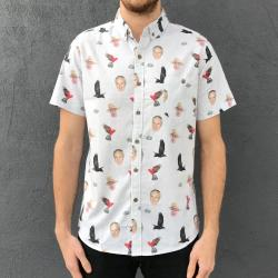 STONE THE FLAMIN CROWS BUTTON UP SHIRT