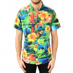 TROPICAL BUTTON UP PARTY SHIRT