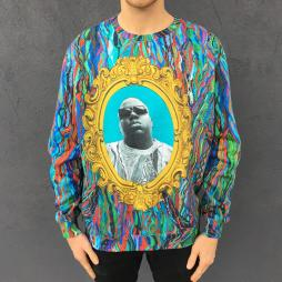 FULL PRINT PORTRAIT BIGGIE SWEATER