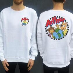 ARTHUR FRONT AND BACK WHITE CREW