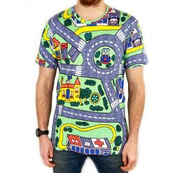 FULL PRINT PLAY ROAD MAT TEE