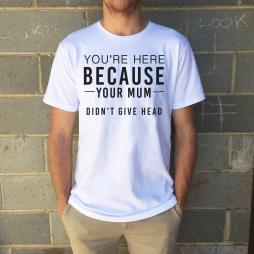 DIDN'T GIVE HEAD FATHERS DAY TEE + FREE CARD