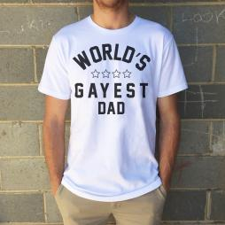 HAPPIEST DAD FATHERS DAY WHITE TEE + FREE CARD