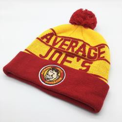 AVERAGE JOES BEANIE WITH EMBROIDERED PATCH