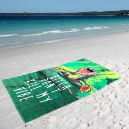 DON'T KILL MY VIBE XL BEACH TOWEL
