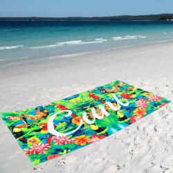TROPICAL XL BEACH TOWEL
