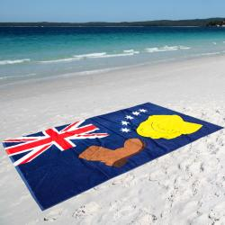 AUSTRALIAN FLAG XL BEACH TOWEL