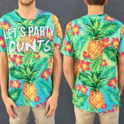 LETS PARTY LTD FULL PRINT TEE