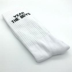 WHITE YEAH THE BOYS SOCKS