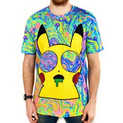 FULL PRINT MELTING PIKACHU TEE