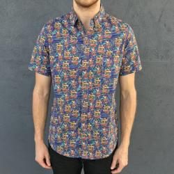 MASKS BUTTON UP SHIRT