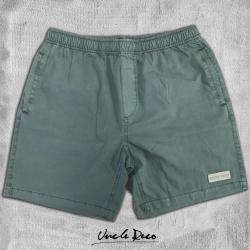 OLIVE GREEN STONEWASH BEACH SHORTS