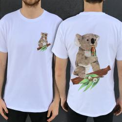 KOALA BEERS FRONT AND BACK WHITE TEE
