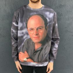 FULL PRINT COSTANZA BLUE CREW SF