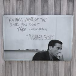 MICHAEL SCOTT WALL HANGING 1200 X 800MM
