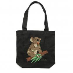 BLACK KOALA BEERS TOTE BAG