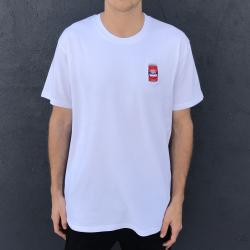 EMBROIDERED RED TINS WHITE TEE