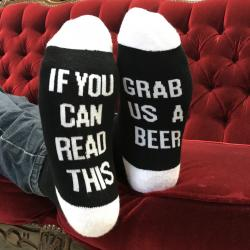 GRAB US A BEER SOCKS
