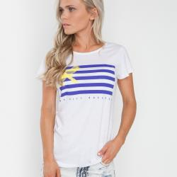 FLAT LINED WHITE TEE