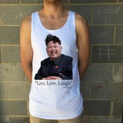 LIVE, LAUGH, LOVE WHITE SINGLET