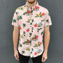 DUSTY PINK HAWAIIAN PARTY SHIRT