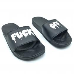 F OFF BLACK SLIDES