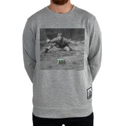 GREEN DEMON HUNTER MARBLE GREY CREW