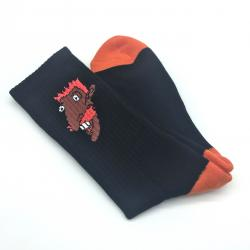 SMASHING BLACK/ORANGE SOCKS
