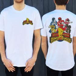 MMPR FRONT AND BACK TEE