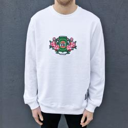 EMBROIDERED VERY BEST ROSE PATCH WHITE CREW