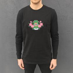 EMBROIDERED VERY BEST ROSE PATCH BLACK LONGSLEEVE