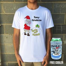 LETS GET PISSED CHRISTMAS WHITE TEE