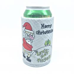 LETS GET PISSED XMAS STUBBY HOLDER