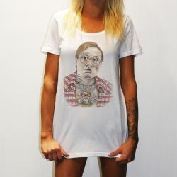 WOMENS BUBBLES WHITE TEE
