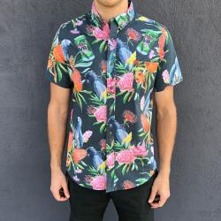 WARATAH BUTTON UP PARTY SHIRT