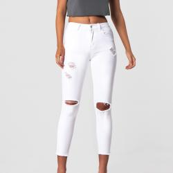 REBEL WHITE JEANS