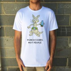 PUNCH CONES WHITE TEE