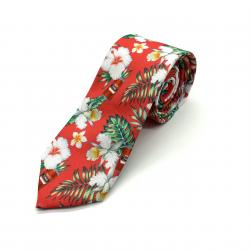 RED TINS HAWAIIAN NECK TIE