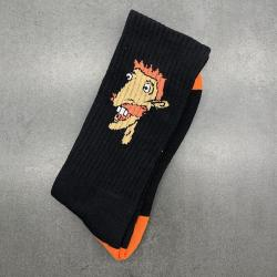 SMASHING ORANGE/BLACK SOCKS