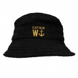 CAPTAIN TERRY TOWELLING BUCKET HAT BLACK